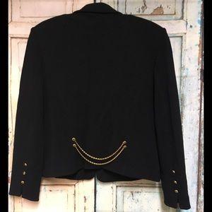 St. John Collection Black Santana Knit Zip Blazer